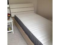 Single bed (Homebase) and Mattress (IKEA)