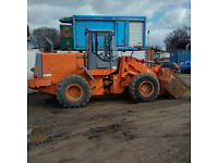 2004 Hitachi LX 170 E wheel loader 7000 Hours. Weight system. Air conditioning.
