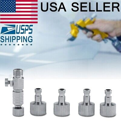 """Airbrush Quick Release Coupling Disconnect Adapter with 1/8"""" Plug 4 Fitting Part"""