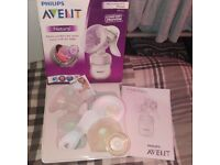Philips Avent natural manual breast pump is new and bootle yoomi