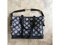 Black & grey changing bag, may and compartments