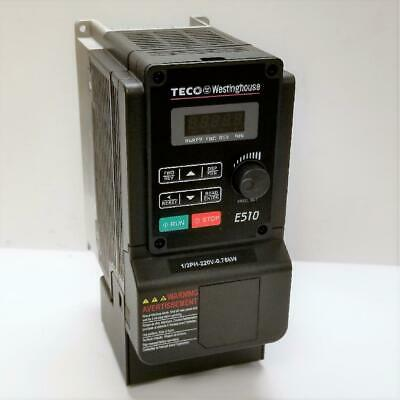 1 Hp 1 Or 3 Phase 230v Teco Nema 1ip20 Variable Frequency Drive E510-201-h-u