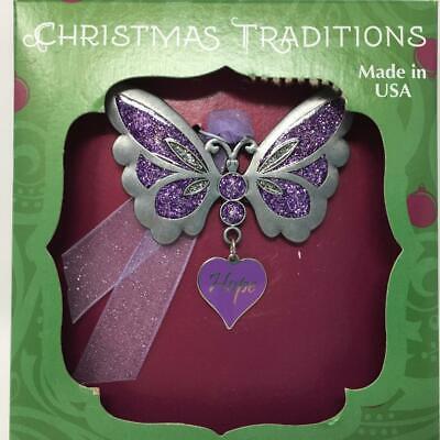 Christmas Tree Ornament Butterfly Heart Hope NEW Gloria Duchin Traditions ()