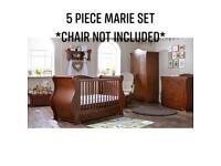 Walnut Tutti Bambini 5 Piece Marie Set