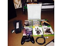 Xbox 360 with 1 console and 6 games