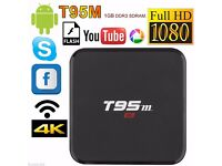 4K T95M Smart Android 6.0 TV BOX Quad Core 1GB+8GB WiFi Media Player