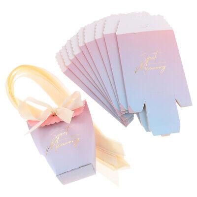 10x Gradient Pink Candy Boxes Hochzeitsgeschenke Favor Bag für Party Baby (Party Favor Für Hochzeit)