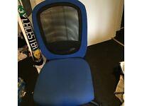 Blue office computer chair