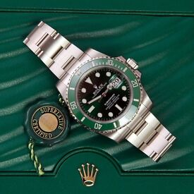 Rolex Submariner Date (Hulk) Ref. 116610LV. April 2017 unworn with box & papers. London
