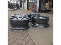 "20"" ISPIRI isr8 ALLOY WHEELS AND TYRES concave AUDI VW MERCEDES BRAND NEW 245/35r20 9x20 et33"