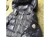 Moncler puffer coat size 12