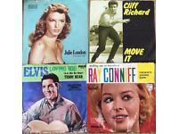 Five 1950s 7 inch singles + Elvis 1969
