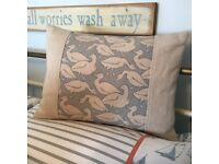 Beautiful cushion.. Emily Bond goose. Feather pad. As new.