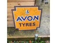 Avon enamel advertising sign