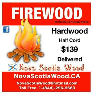 Hardwood Firewood  $139     Delivered    www.NovaScotiaWood.ca  Call Toll free: 1-844-296-WOOD (9663)