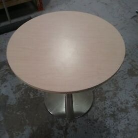 Small Maple Meeting Room Table With Metal Base