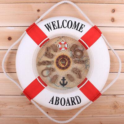 Lifebuoy Tide Clock Nautical Gift Ship Boat Wheel maritime Life Ring