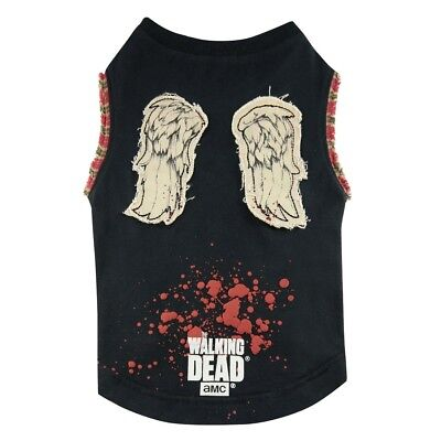Walking Dead Daryl Wings Dog T-Shirt (Twd Daryl Kostüm)