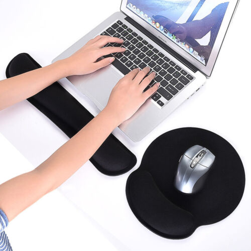 Memory Foam Keyboard Silica Gel Mouse Pad and Wrist Rest Pad