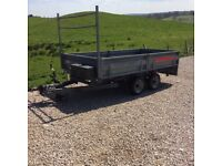 Trailer 10ft x 5ft6 with ramps and ladder rack