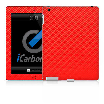 iPad Skin (2nd & 3rd Gen) - Red Carbon Fibere skin by iCarbons Ipad 2 Carbon