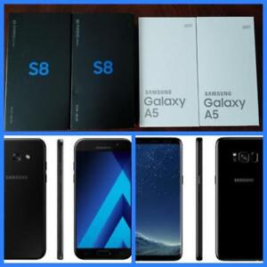 Samsung Galaxy A5($350)/S8($650)/S9($750)/S9 Plus ($925), New, Canadian, Unlocked!***Freedom/ Bell/ Rogers/ Telus/ Fido/