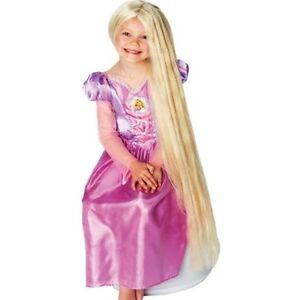 Kinder Perücke Rapunzel blond leuchtet im dunkeln Disney
