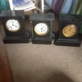 Antique clocks for spares or repairs
