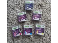 6 Asda HP compatible ink cartridges