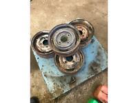 "Set of 4 steel 10"" mini wheels £50"
