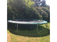 20ft trampoline with steps - good condition