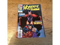 Marvel's Wolverine comic #3 days of future in fine condition