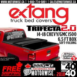 2014-2018 Silverado & Sierra 1500 Extang Trifecta 2.0 Soft Folding Tonneau Cover | 6.5 ft Bed | Free Shipping |