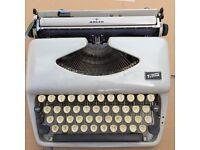 Adler Pippa Portable Typewriter in Plastic Case