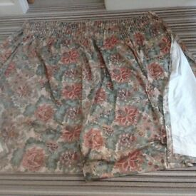 """2 pair of quality curtains. Both lined and weighted with 4"""" track for hanging."""