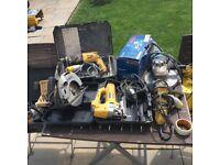 Job lot 1 10v. Dewalt, Bosh blue, makita, Milwaukee power tools
