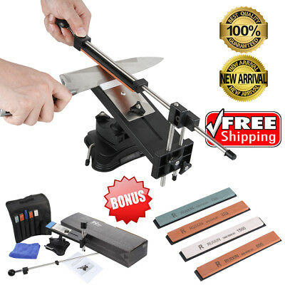 Professional Knife Sharpener System Ii Fix Angle With 4 Stone Kitchen Sharpening