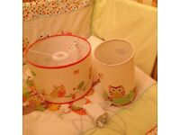 Lovely nursery lamp shade and lamp from Dunelm