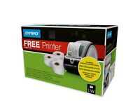 DYMO label maker printer with 3 rolls of labels, NEW