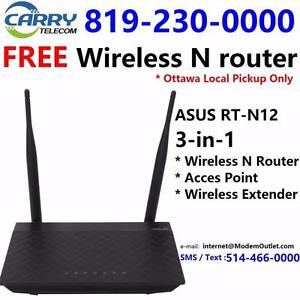 FREE wifi router with Unlimited Cable internet plan $35/month and up, call 819-230-0000 or 613-519-6000