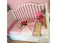 Childs cot / bed white