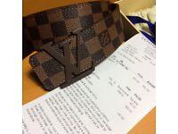Brown monogram Louis Vuitton canvas belt brand new boxed M9807 100cm