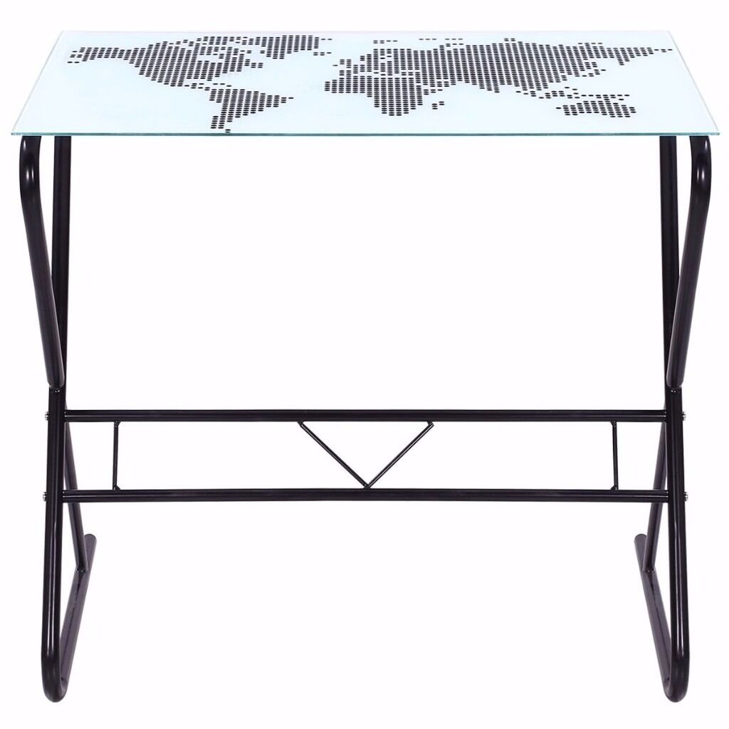 Small glass computer desk with world map on top in cardiff gumtree small glass computer desk with world map on top gumiabroncs Image collections
