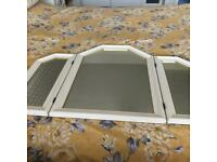 Mirror for dressing table top white
