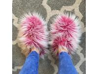 """Fuzzy Slippers from Surf brand """"Animal"""""""