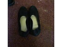 New Look Black ballet flats, used