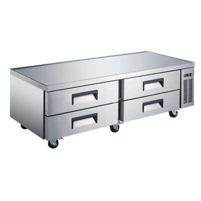 72 4 Drawer Refrigerated Chef Base Commercial Kitchen Equipment Stand