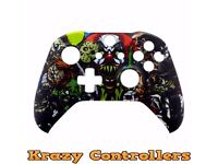 Xbox One S Wireless Controller Custom Horror Replacement Front Shell Faceplate - New
