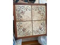2x Vintage tiled top coffee tables.