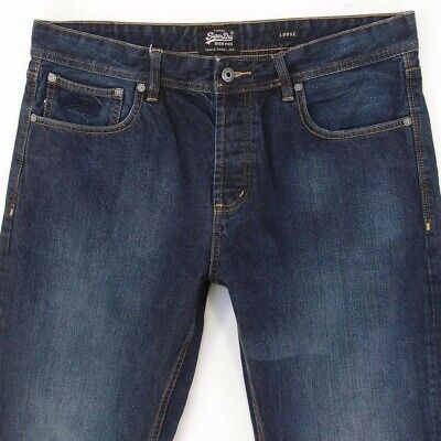 Mens SuperDry LOOSE Relaxed Blue Jeans W36 L32